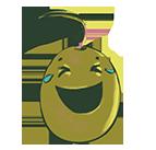 Emoji riendo